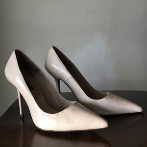 Soft Pink Patent Leather Pumps